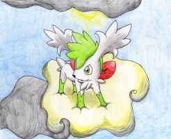 Shaymin of the sky.. by hikaripachirisu
