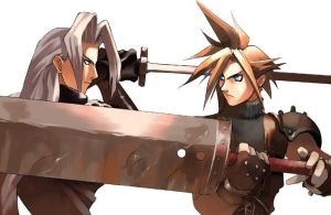 Cloud vs Sephiroth by romulo1995