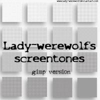 Screentones for Gimp 2.6.7 by Lady-Werewolf
