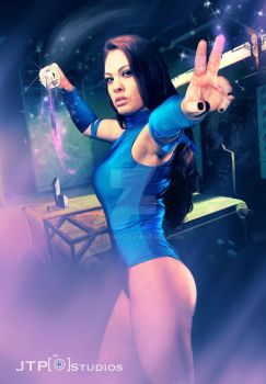 Psylocke shoot with Jessica Grey by TREXMAN
