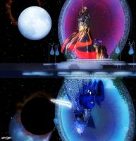An Obsure Reflection ( Lunar Eclipse Intermission) by Axel-Doi