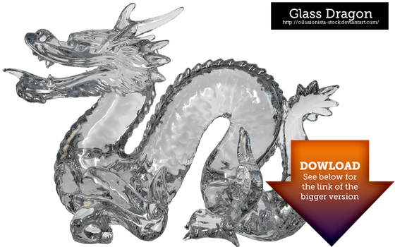 Glass Dragon - Transparent by oilusionista-stock
