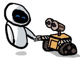 Wall-E and Eve by zookydragon