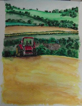 Little Red Tractor by lorcamart