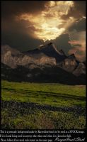 Mountain Range Background by RaeyenIrael-Stock