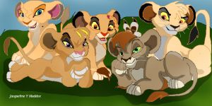 Lion King 3 cubs:very old art by Catgirl08