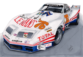 Chevrolet Corvette Greenwood Spirit of Le Mans 76 by vsdesign69