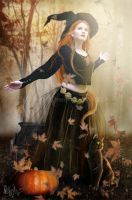 The Autumn Witch by MADmoiselleMeli