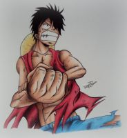 Monkey D. Luffy from One Piece by TinTen97