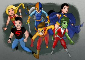The Teen Titans by Mr-Tibble