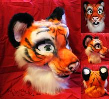 Tiger Fursuit Head by Kloofcat