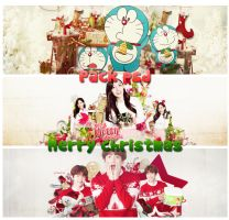 Pack psd Merry christmas by fcmon