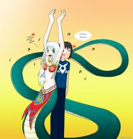 Anna and JJ - Snakecharm by LinkStar-Number1
