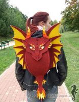 Red Dragon Backpack II by bt-v
