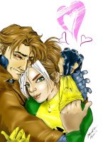 Rogue and Gambit by emylee