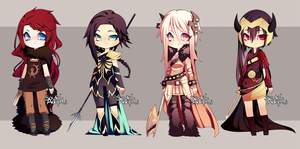 vaguely viking warriors auction - CLOSED by SoukiAdopts