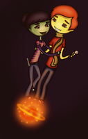 Quentin and Phoebe. by MartianMeerkat