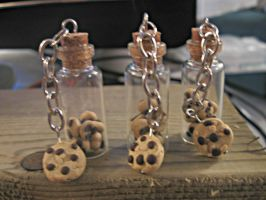 tiny cookie bottle pendants by Katlynmanson