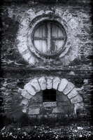 Old abended house windows by Pierre-Lagarde