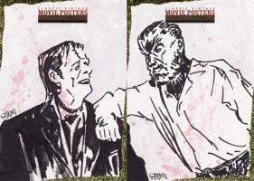Frankenstein and Wolfman by tdastick