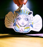 Blue Rose PaperChild by Luminofor