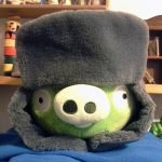 Ushanka Pig by RiverKpocc