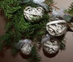 Set of 4 Christmas Carol Ornaments by wetcanvas