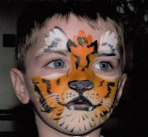 5 Minute Face Paint - 'Tiger' by Bhavasindhu