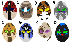 $1 or 100 Point Egg Adopts - 6/8 Open - by DemoniaTheGuardian