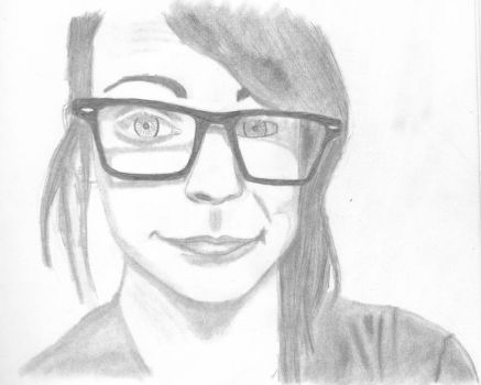 Drawing of my best friend by iamthetolliver