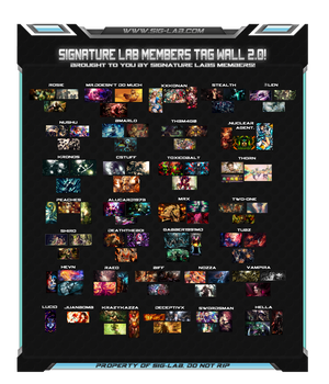Signature Lab: Members Tag-wall #2 by Stealth14