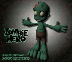 Zombie Hero - Test Render 2.0 by nickowolf