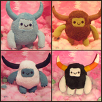 Yeti Monster Plushies by BaileyNickerson