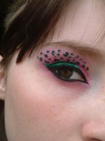 leopard print eye make up by twistedmisfit