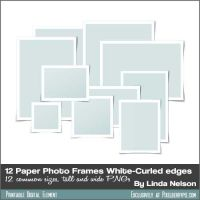 Free 12-pack White Paper Photo Frames by pixelberrypie