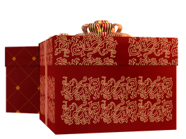 Christmas Gift Boxes 02 PNG Stock by Roys-Art