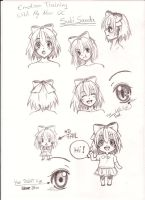 Emotion training with my new OC by JasiChan17