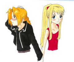 Ed and Winry by Jojo-XD