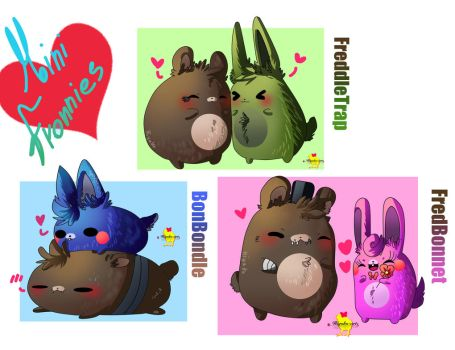 Mini Fronnies! Small bears and bunnies! by Hiyoko-little-chick