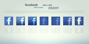 Facebook Web Icons by Martz90