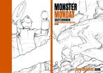 Monster Monday Sketchbook Wraparound Cover by Comicbookist
