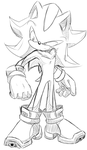 Shadow the hedgehog sketchy by KyuubiCore