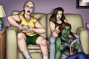 Young Justice Slumber Party by TravisTheGeek
