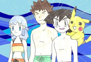 Pokemon DP Gone Swimming by willvoy