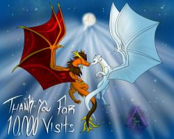 Thank you for 10 000 Visits! by ArkaDark