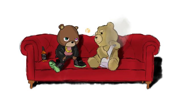 Dropout bear and Ted by Simbv