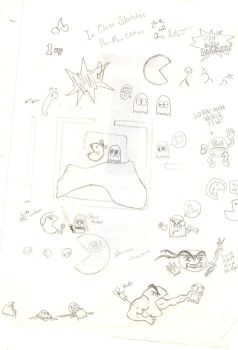 In Class Sketches Pac-Man Edit by MikiElf