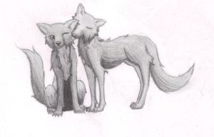 wolves by IronLust