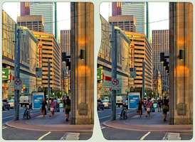 Toronto - Edwards / Bay Street In Sunset Light 3D by zour