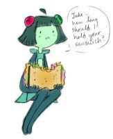 BEEMO, HOLD MY SAMMICH by Peppermint-Biscuit